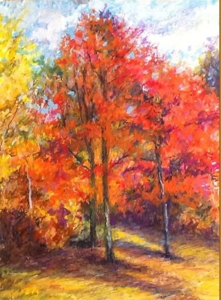 Oil pastel on pastel paper