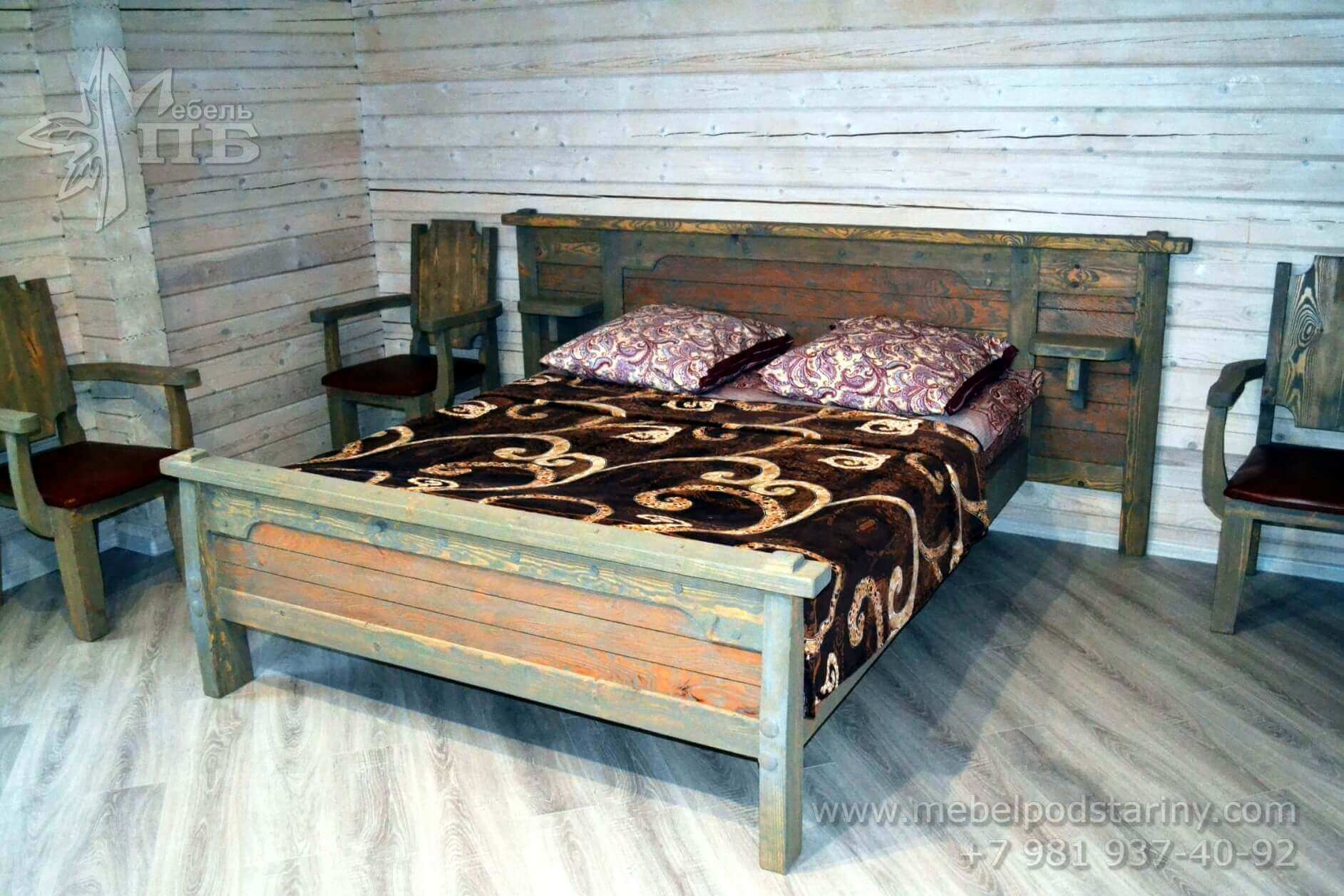 bed made of solid wood № 4 (1)