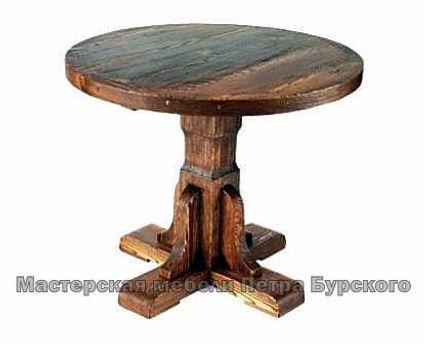 стол круглый из дерева ручной работы, стол круглый из дерева цена, стол круглый из дерева купить, стол круглый из дерева заказать, круглый стол из дерева под старину