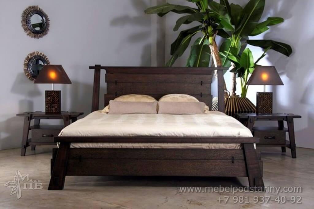 кровать в колониальном стиле, кровать фиджи, колониальный стиль кровать, кровать из массива дерева в