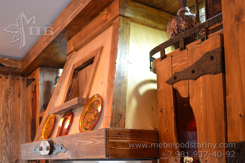 Кухня из состаренной сосны АНТОНИНА (12)