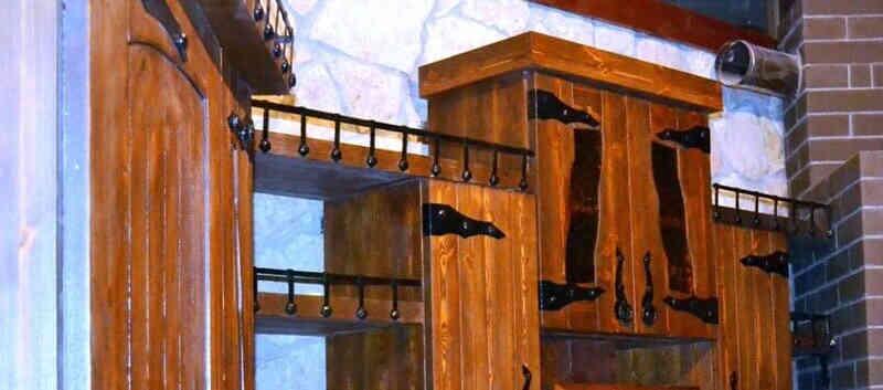Кухня из дерева под старину АНАСТАСИЯ