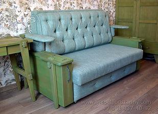диван в колониальном стиле, диван с спальным местом, диван аккордион