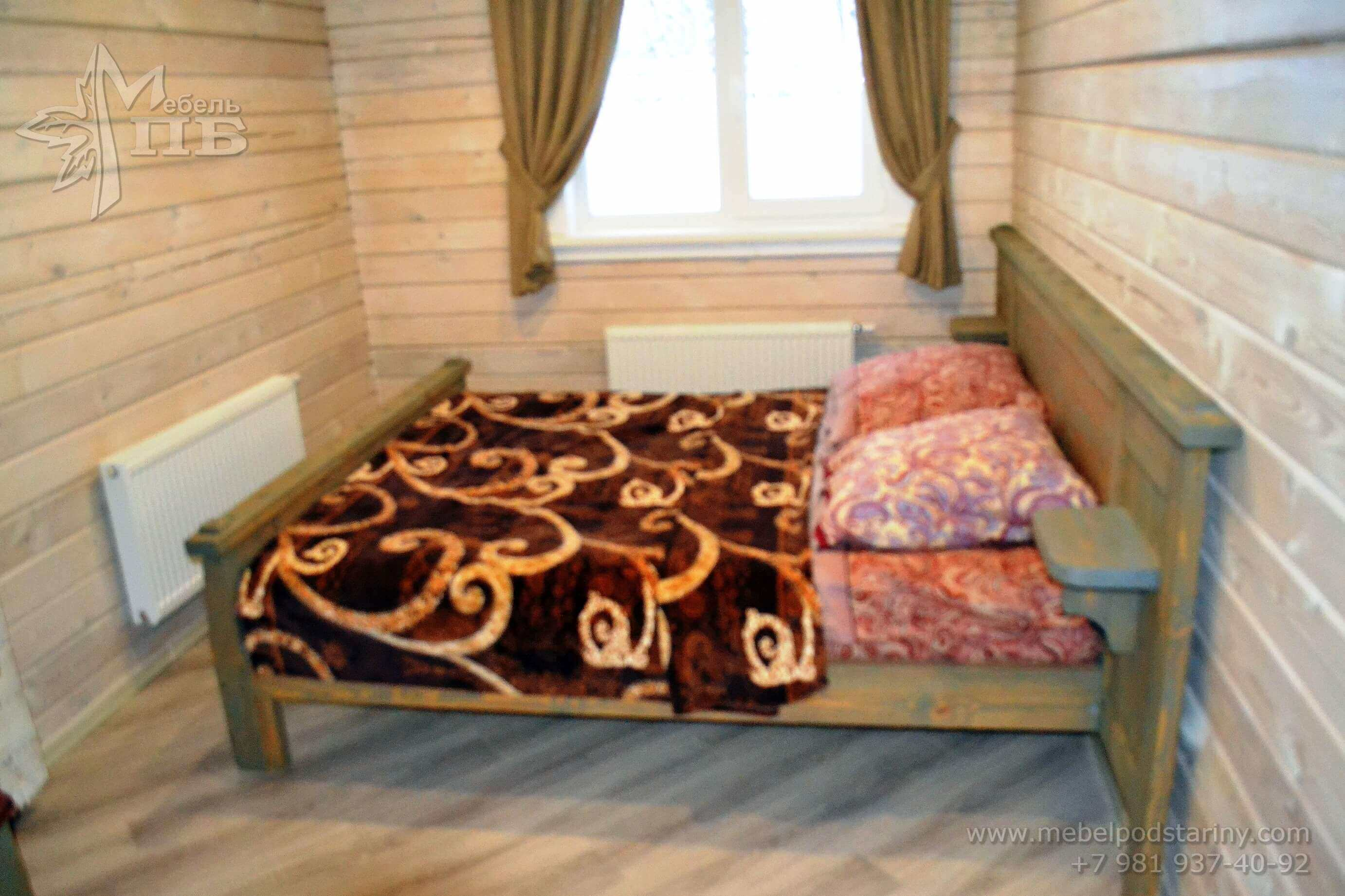 bed made of solid wood № 4 (2)