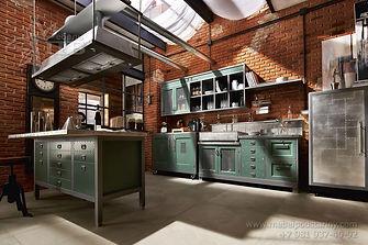 кухня из метала и дерева, кухня из железа, кухня из железа и дерева, кухня лофт из метала, железная кухня в Санкт-Петербурге