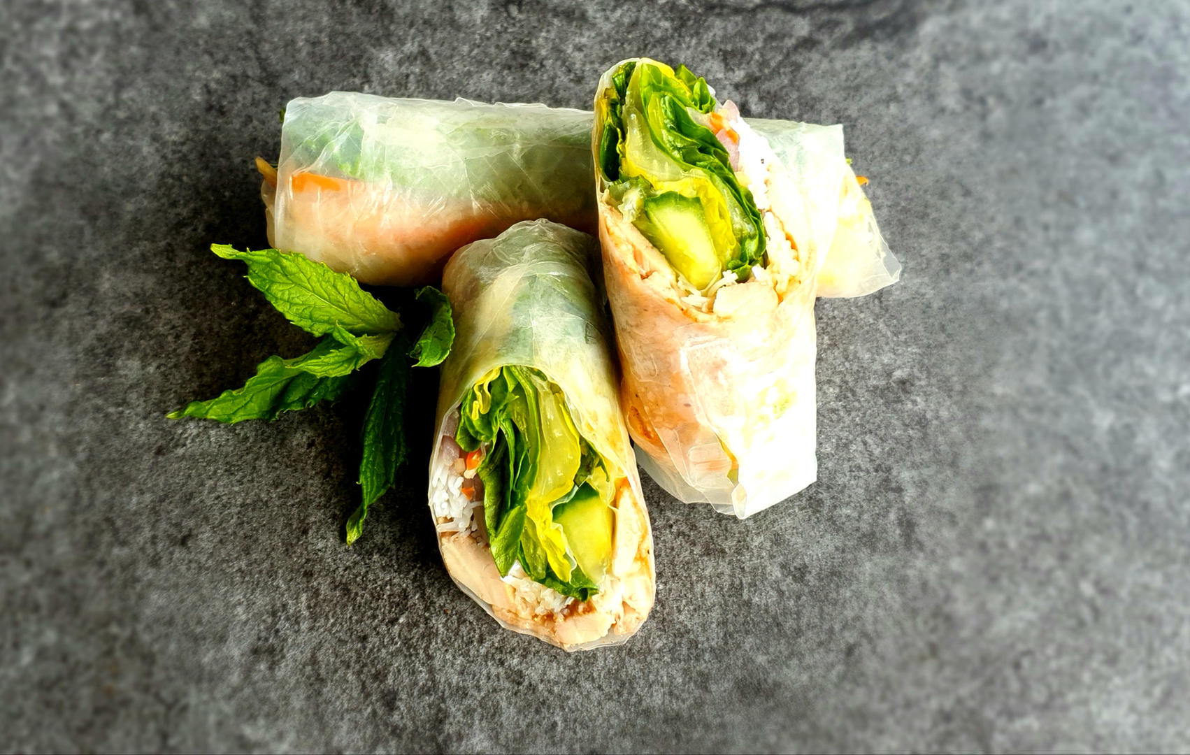 #8. BBQ Chicken Summer Rolls