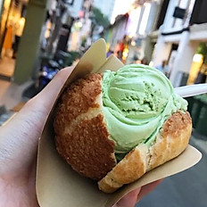 22. Matcha Ice-Cream Puffs