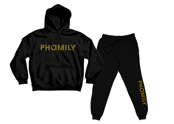 Phamily Pullover Hoodie Sweatsuit (Stripe Edition)