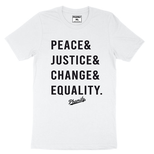 Peace Justice Change Equality Tee