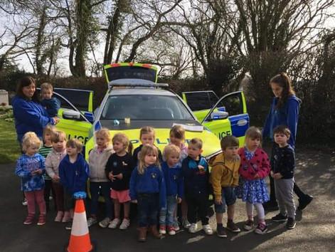 Police visit Ducklings 🐥