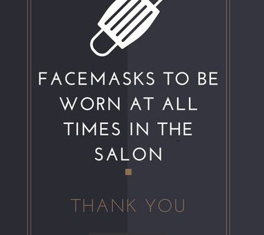OUR SALON GUIDELINES FOR REOPENING