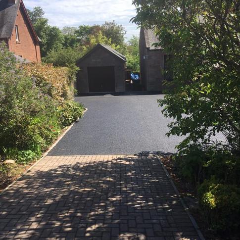 Tarmac driveway in Kirriemuir.