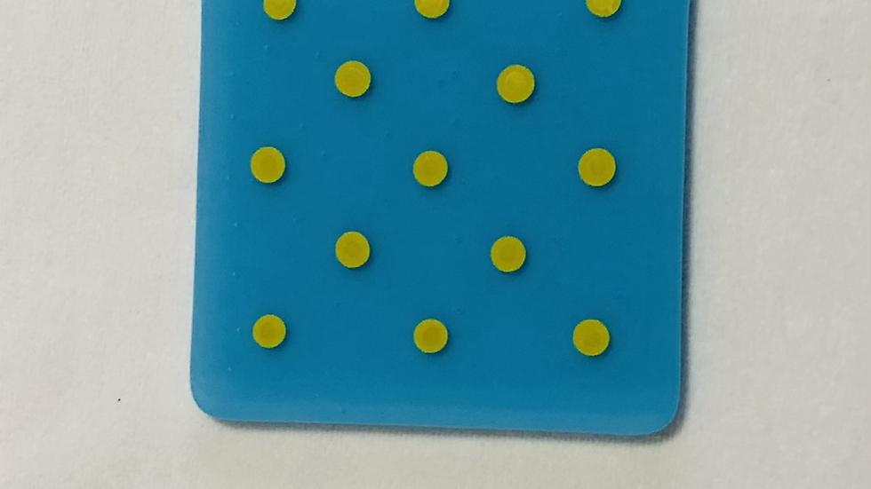 Coaster Blue/yellow Polka Dot