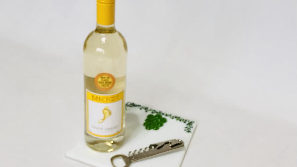 Wine bottle coaster/table centre piece