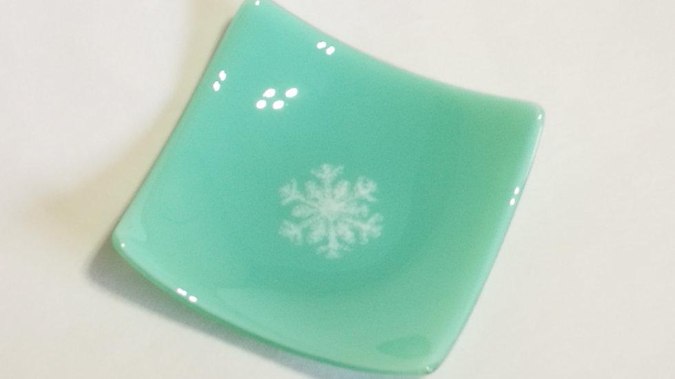 Square Platter - Snow flake