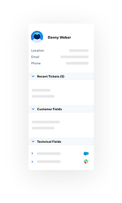 Customer info panel