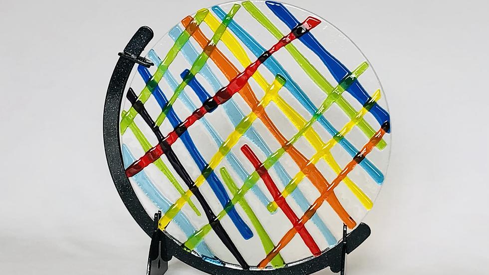 Suncatcher - multi coloured circle