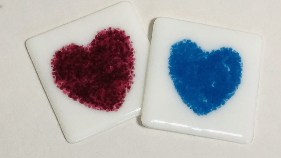 Heart pattern Coaster