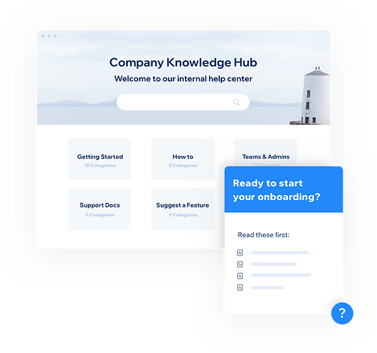 Internal knowledge for support teams