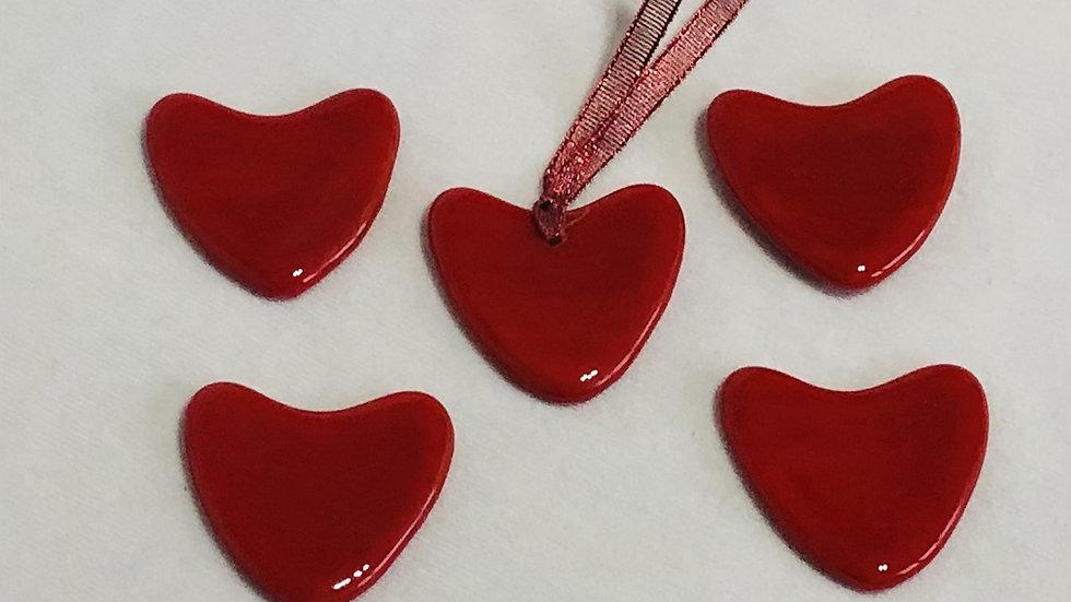 Red heart, bauble/Fridge magnet