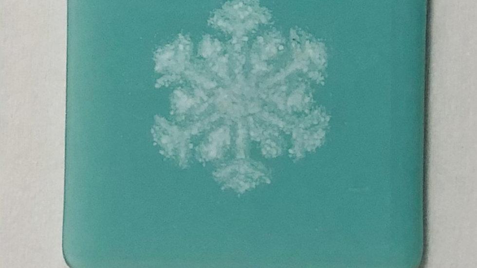 Coaster blue snowflake