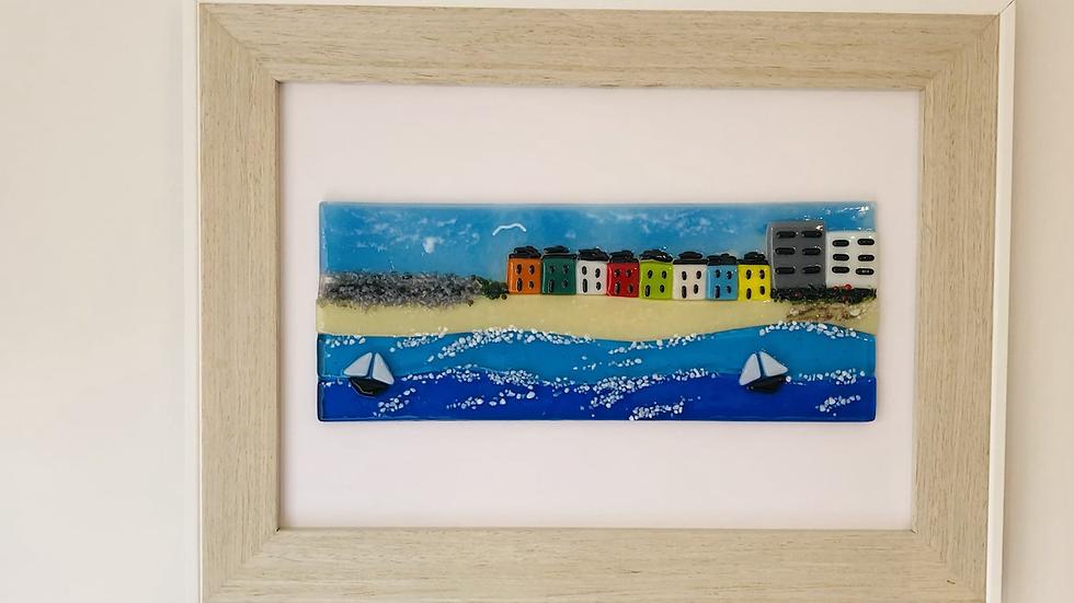 Picture - Seascape with cottages -Westward Ho!