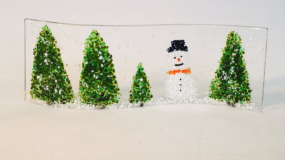 Wave picture - Christmas trees and snowman