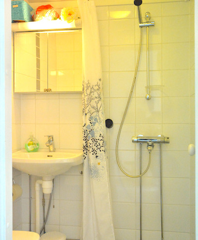 Mustikka, wc, suihku .. toilet and shower .. toilettes et salle de bain