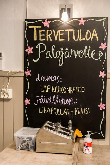 Palojärven Lomakeskus menu