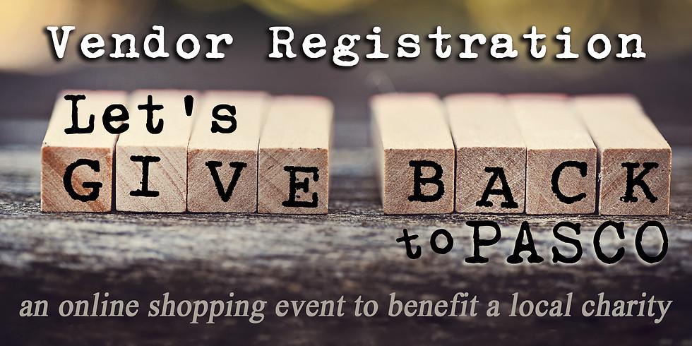 Let's Give Back to Pasco Online Shopping Event - VENDOR REGISTRATION