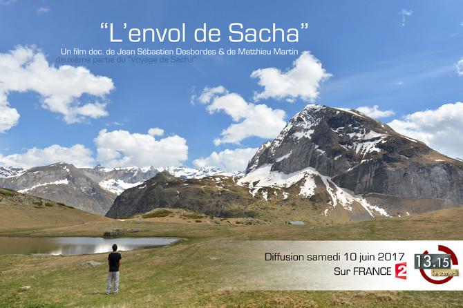 """""""L'Envol de Sacha"""" Film documentaire sur France 2 dans le 13H15 du samedi 10 juin 2017"""