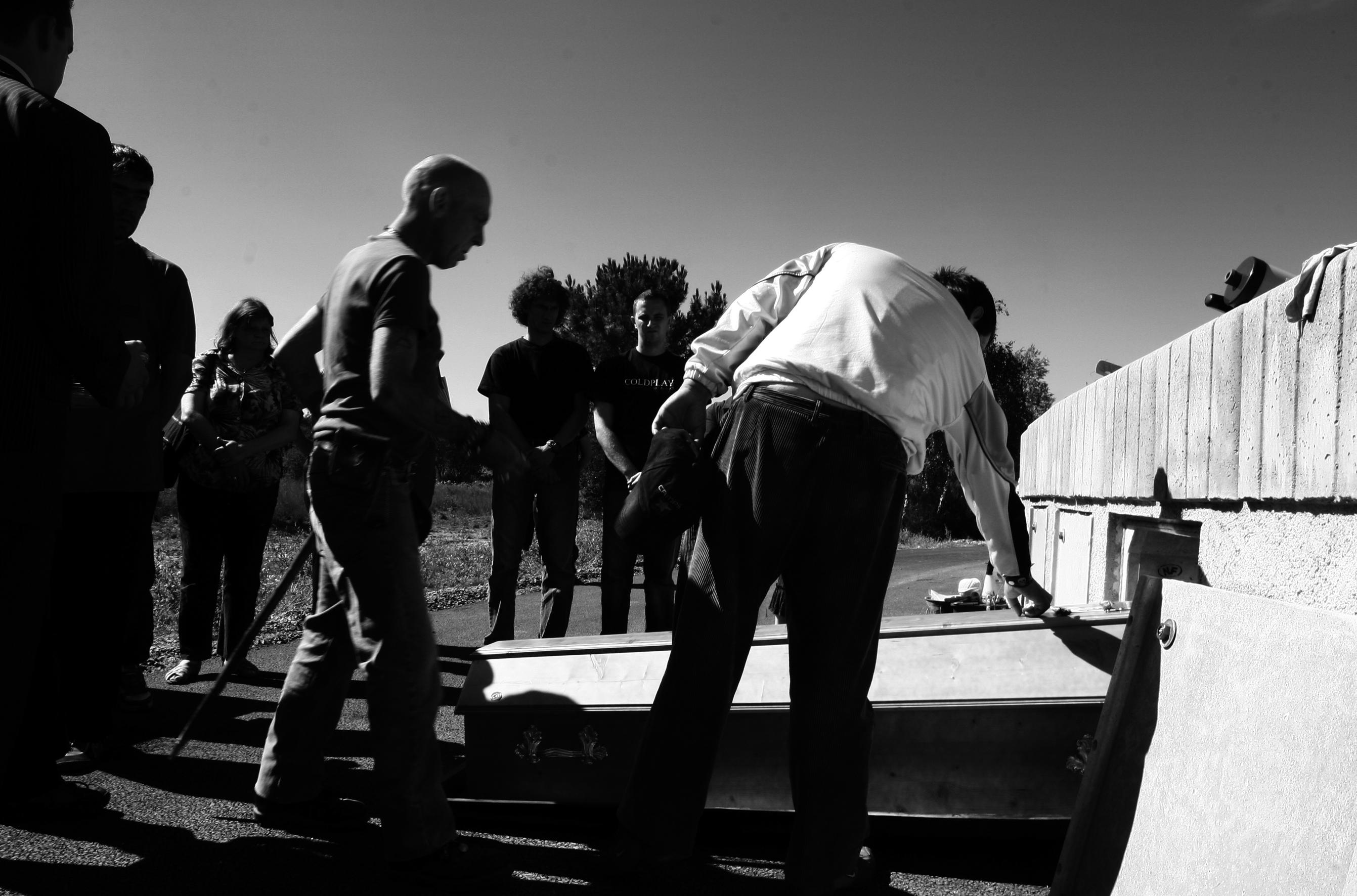 L'enterrement de Christian