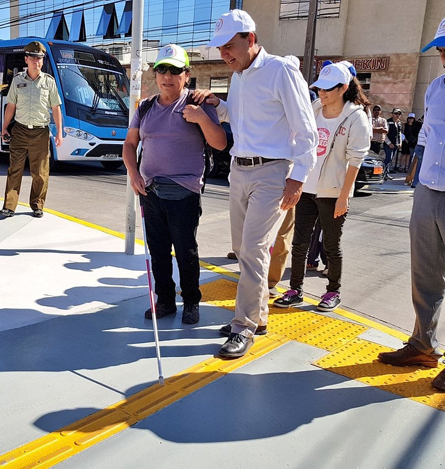 Paneles Podotáctiles Ciclovía Inclusiva La Serena