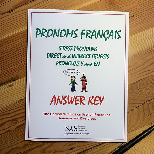 French Pronouns - Grammar and Practice - Answer Key