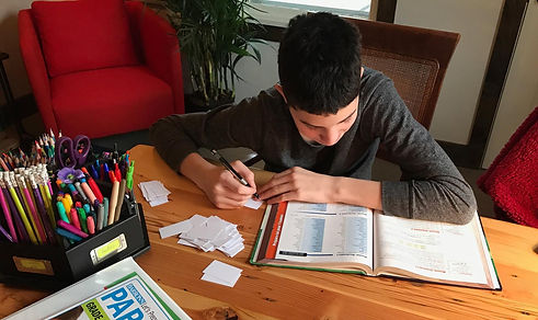 A student with great study skills