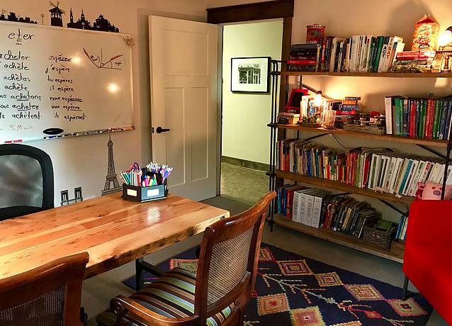 Inviting teaching room.