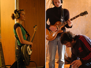 The Subways in 2005 recording 'Young For Eternity' at Elevator studios in Liverpool