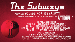 Portsmouth Young For Eternity tour venue change to Wedgewood Rooms (new DATES are 2nd & 3rd October)