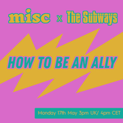 Instagram live discussion with Misc Berlin - 17th May 3pm (UK)/ 4pm (CET)
