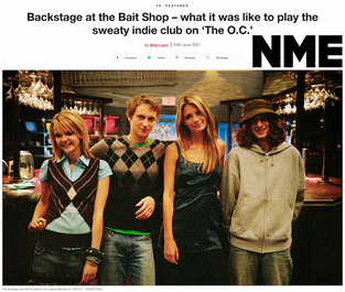 NME interview with Billy about our appearance on The OC