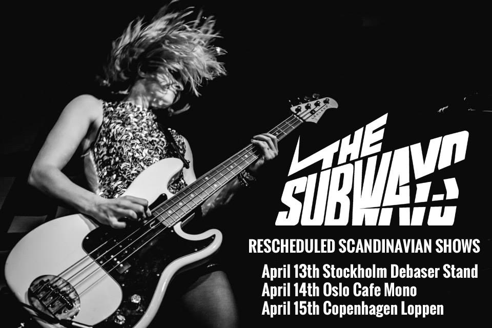 The Subways Scandinavian Tour