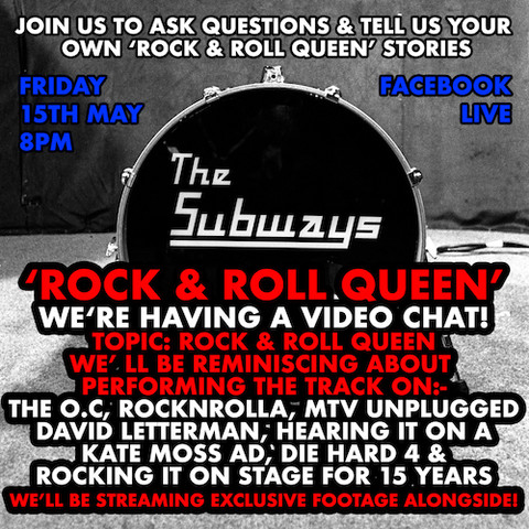 Rock & Roll Queen Video Chat this Friday!! (15th May)
