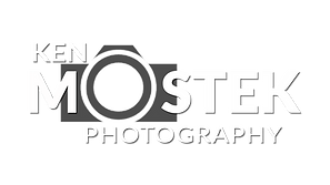 Ken Mostek Photography Camera LOGO white