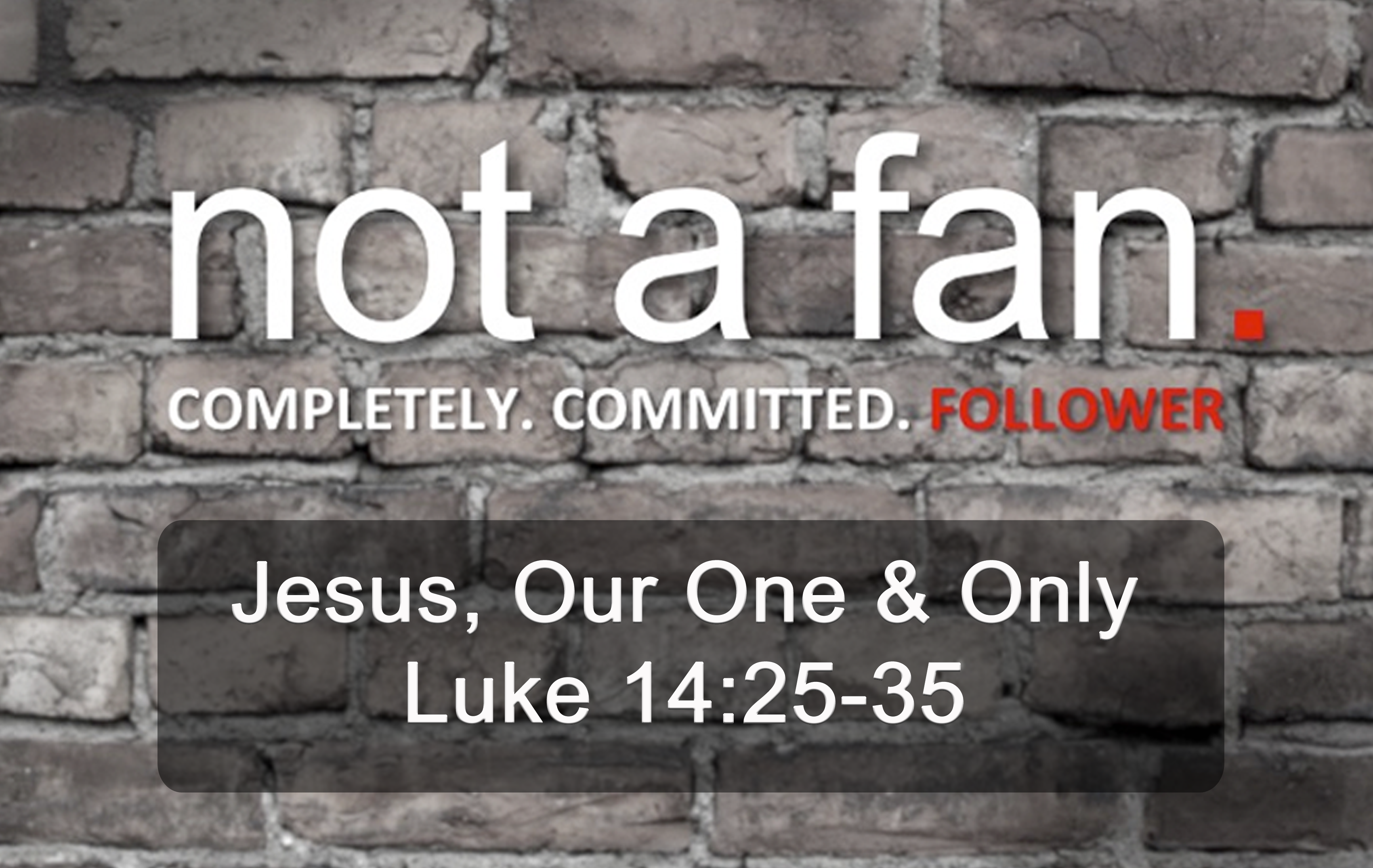 Jesus, Our One & Only