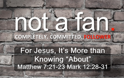 For Jesus it's More than Knowing