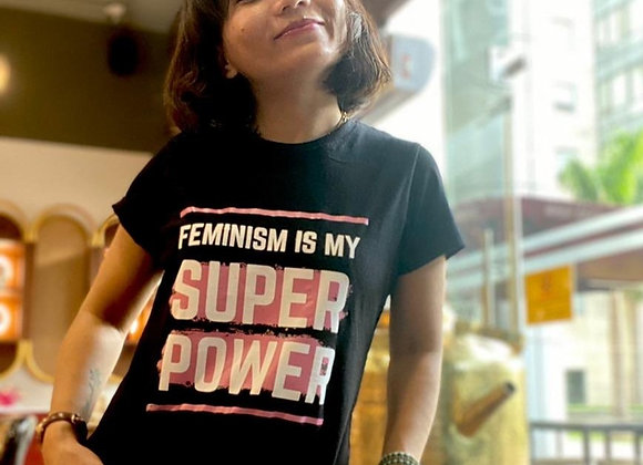 Feminism is my Super Power - Black