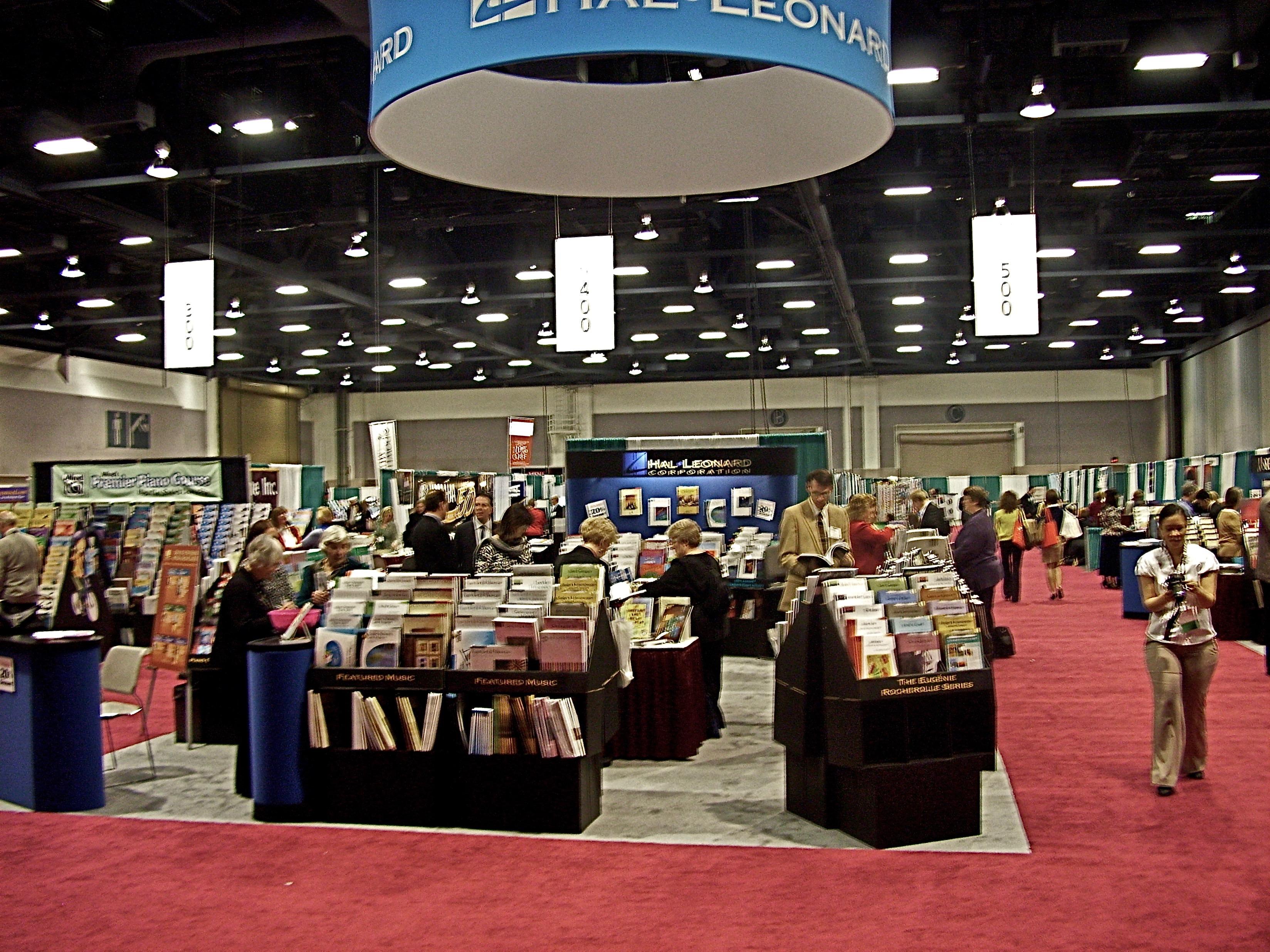 Hal Leonard booth at MTNA Milwaukee