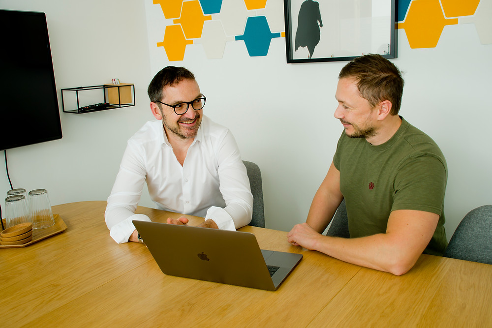 Photo of Gavin Wilkinson, Co-founder & Director of Director, and Rich Lowes, Senior Application Developer