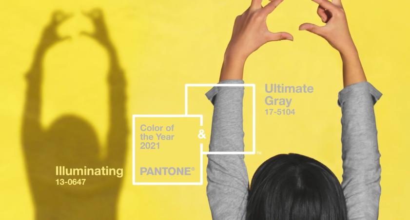 Image of Pantone's Colour of the Year 2021 - Ultimate Gray and Iluminating