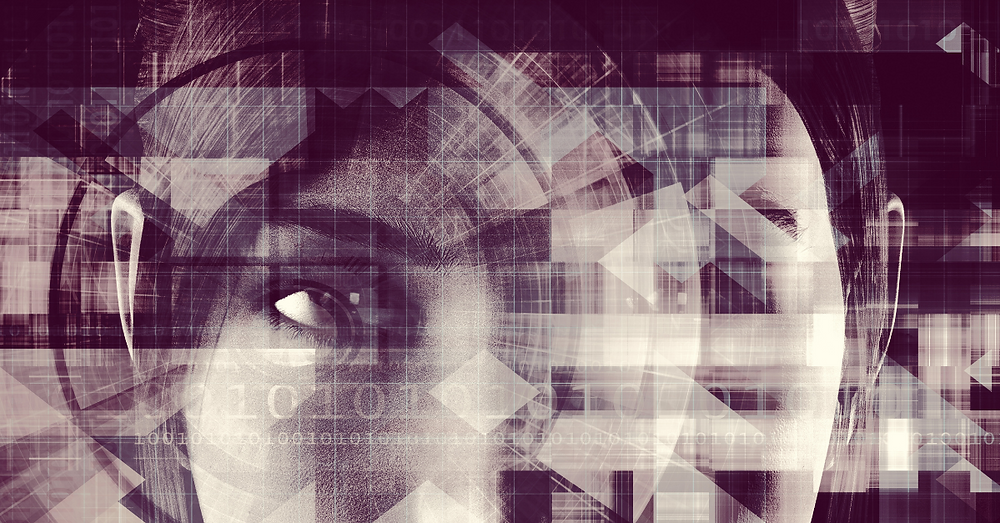 Image of a woman looking at data